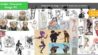 Début des Ateliers de Character Design