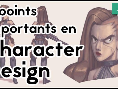 3 points importants en Character Design
