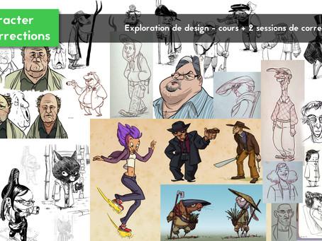 Ateliers de Character Design!