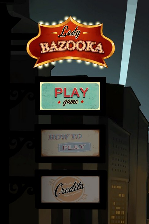 A screenshot from the PSQ student made game Lady Bazooka