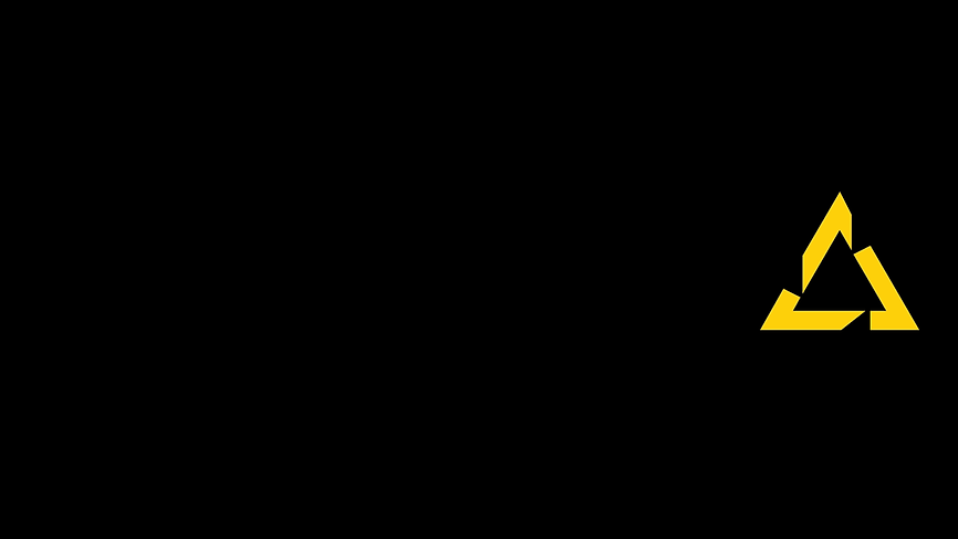 The yellow PSQ triangle on a black surface