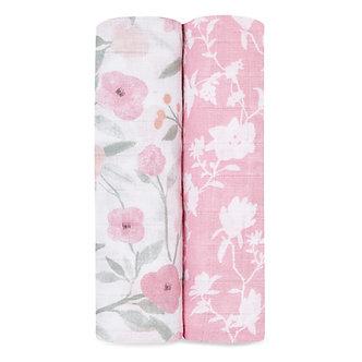 Aden+Anais-Mantas de Muselina Clásica: Ma Fleur 2-Pack