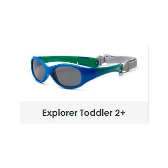Real Shades-Lentes de Sol Explorer-Marco Flexible-2 años a más-Azul y Verde