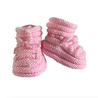 Babas - Botitas de lana - 0 a 3 meses - Rosado