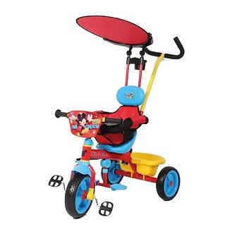 Infanti - Triciclo c/ Cinturón y Guía Deluxe (con techo)O) Mickey
