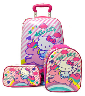 Scool - Set Strong Escolar Hello Kitty Mal+Lonch+Cart (Oficio)
