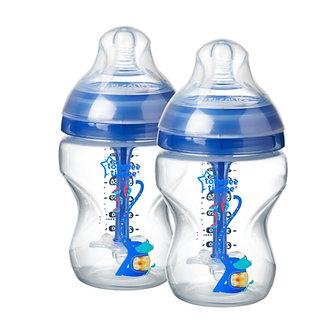Tommee Tippee - Biberón Anticólico Avanzado Polipropileno 9oz Azul x2 unid. 0m+