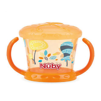 Nuby - Snack Keeper Decorado - Naranja
