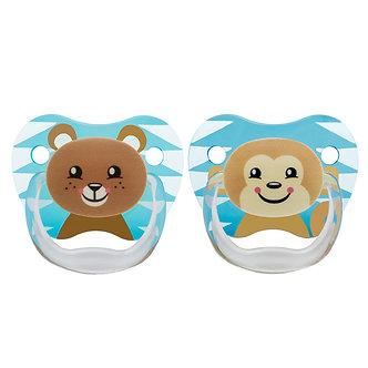 Dr. Brown's - Set de 2 chupones PreVent de 6 a 18 meses Oso y Mono Niño