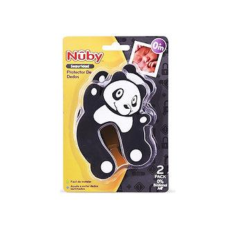 Nuby - Protector de dedos para puerta x2 unid. - Oso Negro