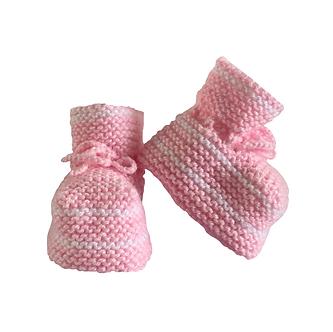 Babas - Botitas de lana - 0 a 3 meses - Diseño bebé Sofía