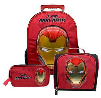 Scool - Set Escolar Premium Avengers Mal+Lonch+Cart (Oficio)