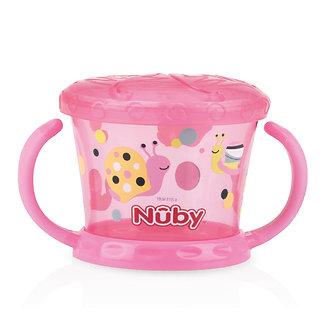 Nuby - Snack Keeper Decorado - Rosado