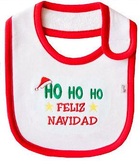 Piccole Cose - Babero - Ho Ho Ho Feliz Navidad
