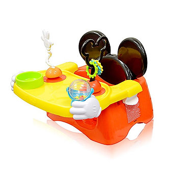 Disney Home - Silla Portátil para Comer con Actividades Mickey Mouse