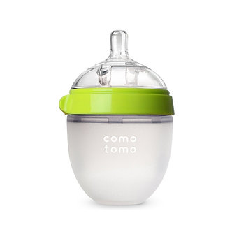 Comotomo - Biberón Flexible de Silicona 5 oz - Verde 0m+