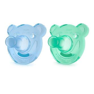Avent - Chupón Soothie Silicona 3 a 18 meses x2 Azul y Verde