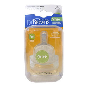 Dr. Brown's - Set de 2 Tetinas Corte Y Options Nivel 4 - Boca Ancha