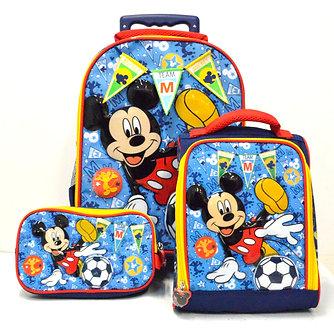 Scool - Set Escolar Mickey Mouse Tela Mal+Lonch+Cart (Oficio)