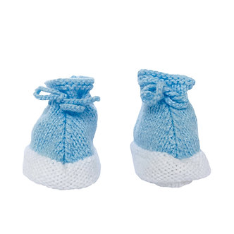 Babas - Botitas de lana - 0 a 3 meses - Diseño bebé Adrián