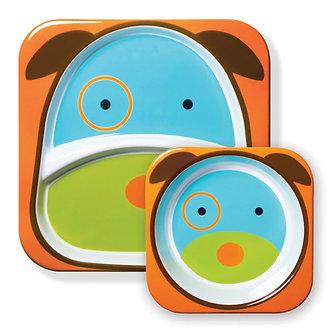 Skip Hop -  Set Plato & Bowl Zoo Perrito