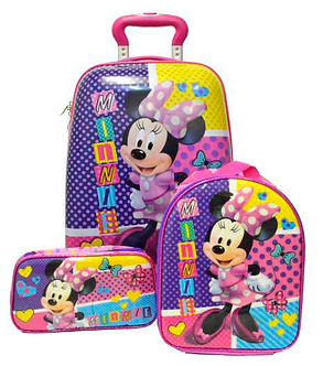 Scool - Set Strong Escolar Minnie  Mal+Lonch+Cart (Oficio)