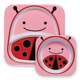 Skip Hop -  Set Plato & Bowl Zoo Ladybug