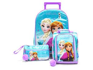 Scool - Set Escolar Frozen Pompom c/luces Mal+Lonch+Cart (Oficio)