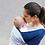 Thumbnail: Maternelle - Fular Ergonómico Regulable 4 en 1 - Azul con puntos azules