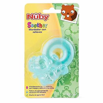 Nuby - Anillo Mordedor Refrigerante Monito Verde