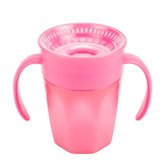 Dr. Brown's - Vaso Cheers 360° de 7 oz / 200 ml Color Rosa