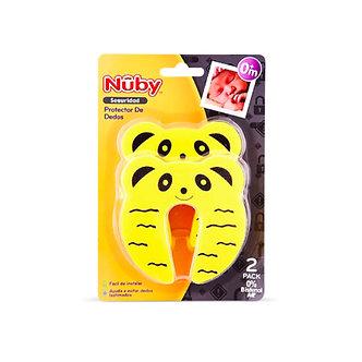 Nuby - Protector de dedos para puerta x2 unid. - Oso Amarillo