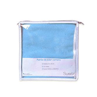 Sweetie - Manta Polar Carnero Con Ribete 84 X 95 Cm Celeste