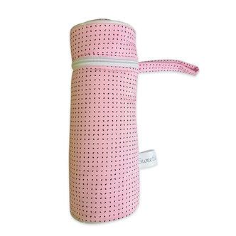 Sweetie - Porta biberones huellitas rosado