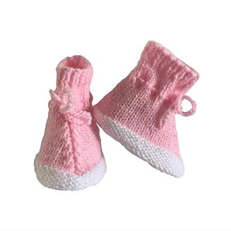Babas - Botitas de lana - 0 a 3 meses - Diseño bebé Emilia