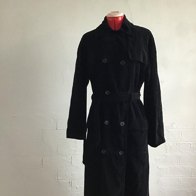 Ladies Black Velvet Coat
