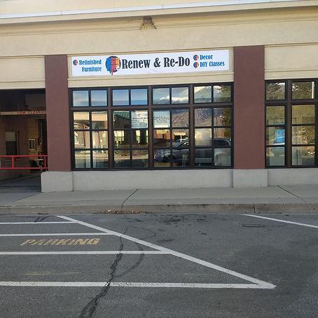Renew & Re-Do Storefront 17 North Merchant St. Amerian Fork, Utah 84003