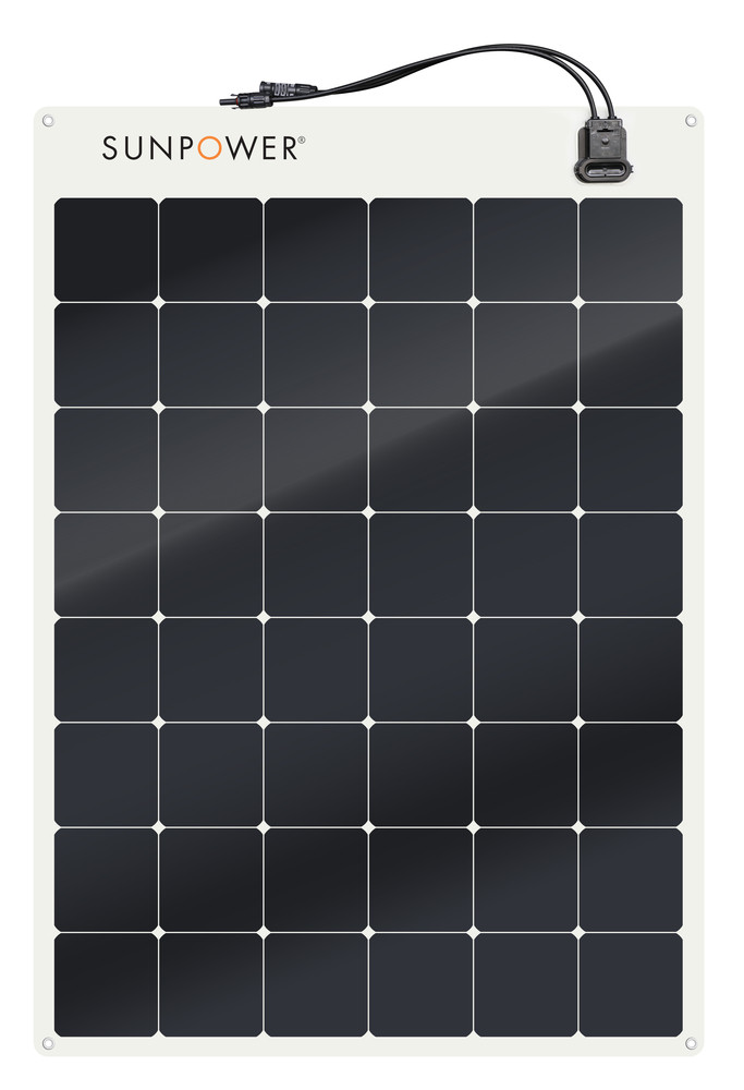 SunPower 170W flexible solar panel