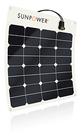 SunPower® 50Watt flexible solar panel