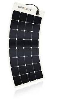 SunPower® 110Watt flexible slar panel