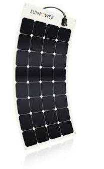 SunPower® 110Watt flexible slar panel