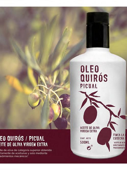 Oleo Quirós. Picual. 500 ml.