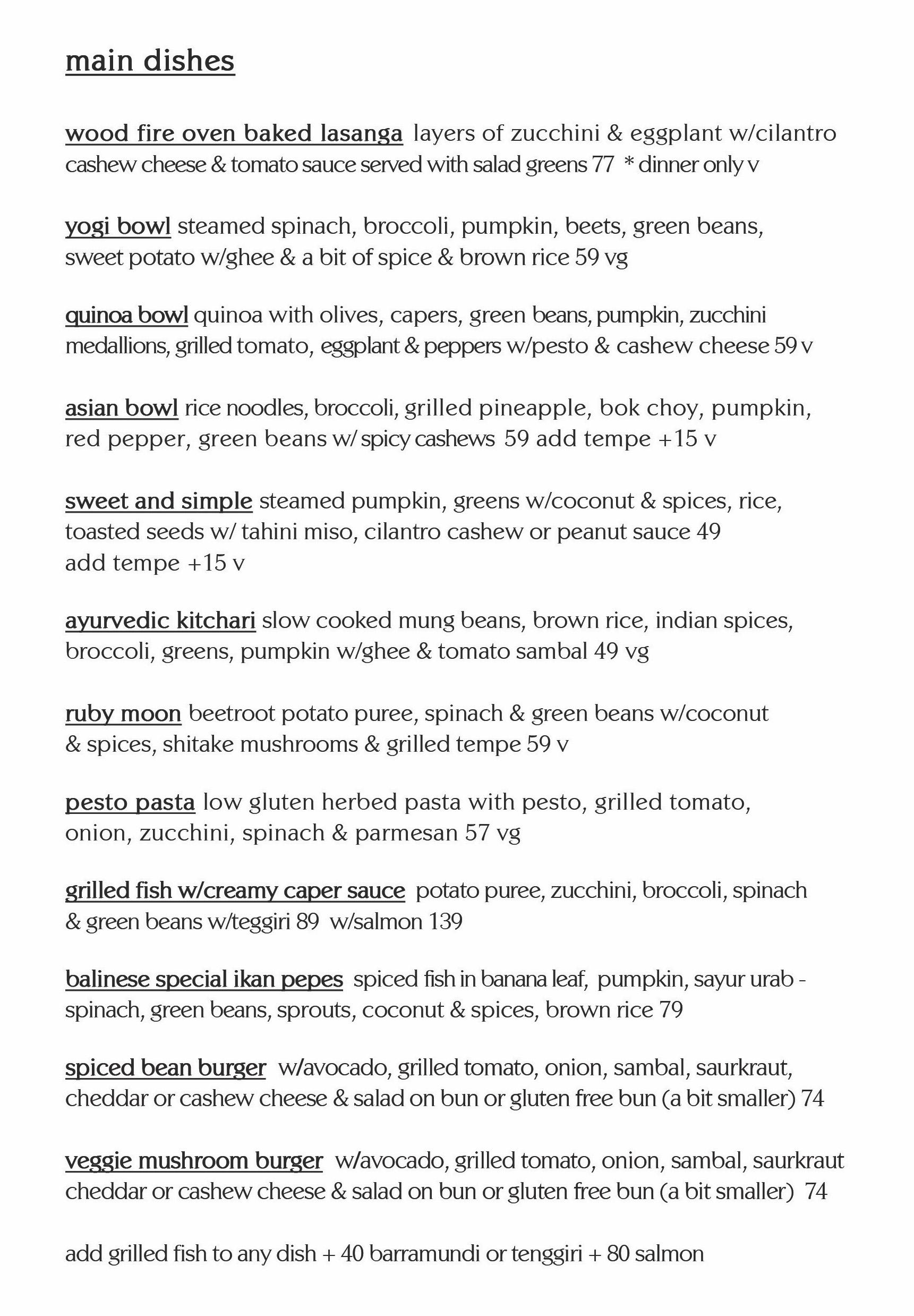 soma main dishes