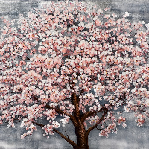 Toile peinte cerisier  90x120