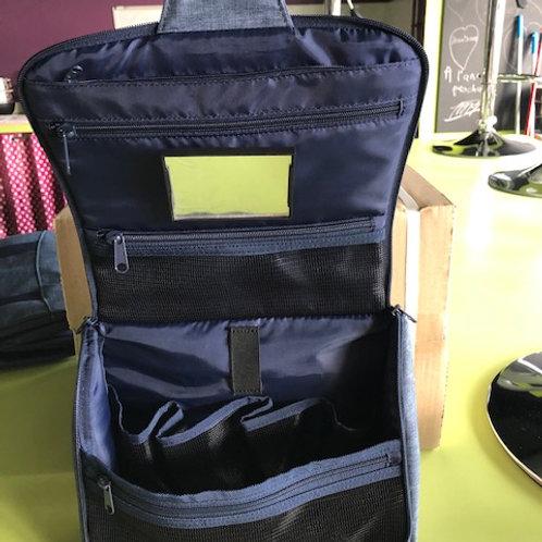 Toiletbag XL metal twist blue