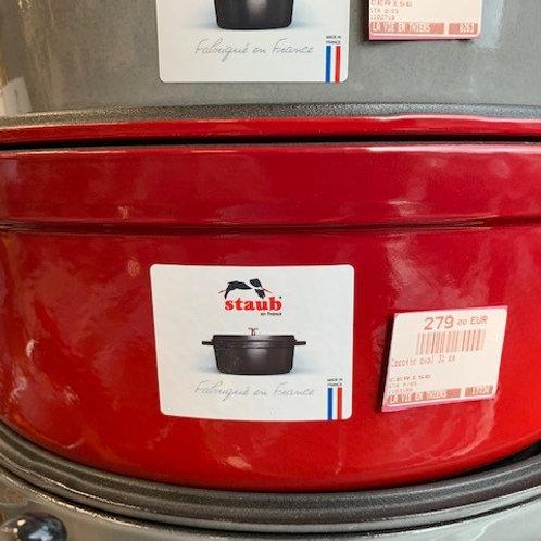 Cocotte ovale 31cm rouge