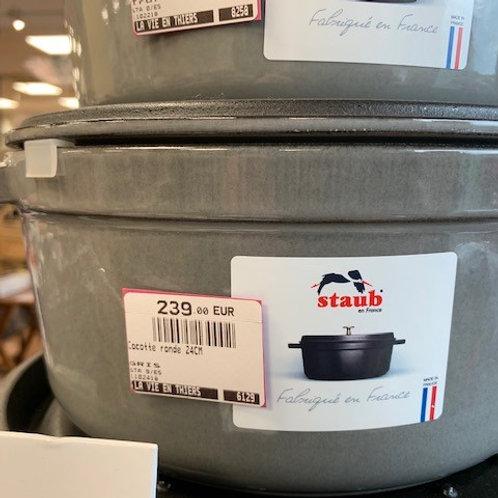Cocotte ronde 24cm graphite