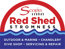 Scapa Scuba - Red Shed logo with text.pn