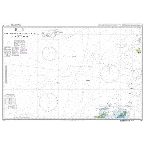 Admiralty Chart No. 1234 - North-Western Approaches to the Orkney Islands