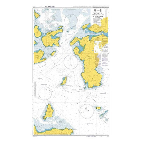 Admiralty Chart No. 2581 - Southern Approaches to Scapa Flow